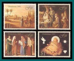 Fiji 1991 Christmas, MNH  #649-652,SG835-SG838