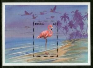 Liberia 1998 Flamingo Birds Wildlife Animal Fauna Sc 1352 M/s MNH # 12515
