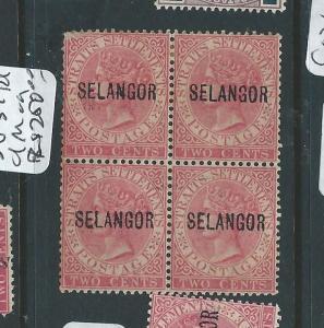 MALAYA SELANGOR (P0510B) 2C QV SG 31  BL OF 4    MOG