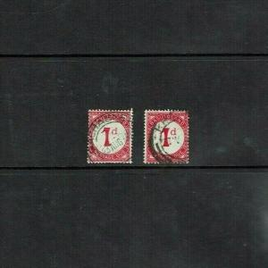 Basutoland: 1932-52, Postage due 1d in both listed shades of red SG D1/1a, used