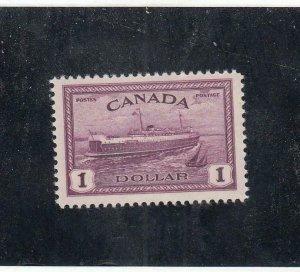 CANADA MLK22 # 273 VF-VF-MNH $1 PEI FERRY BOAT CAT VALUE $77.50