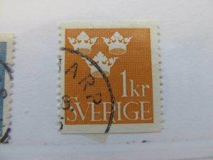 Schweden Suede Suecia Sweden 1939 1k Perf 12 ½ vert fine used stamp A13P13F144