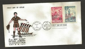 1961 Boy Scouts Philippines 2nd Jamboree FDC Pasananca Park cancel 6