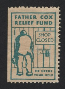 United States FATHER COX RELIEF STAMP  F-VF  -  BARNEYS