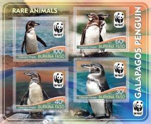 Stamps. Fauna WWF Set 2 sheet perforated Penguins