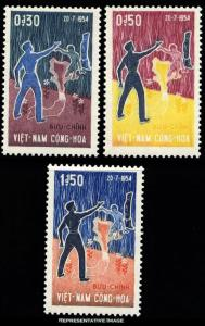 Vietnam Scott 239-241 Mint never hinged.
