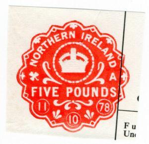 (I.B) Elizabeth II Revenue : Impressed Duty £5 (Northern Ireland)