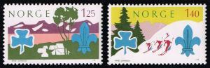 Norway #656-657 Boy Scouts Set of 2; MNH (2.75)