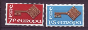 J20754 Jlstamps 1968 ireland setmnh #242-3 europa