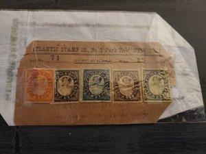 Pomeroys Letter Express Set Of 5 Original Stamps Atlantic Stamp Co