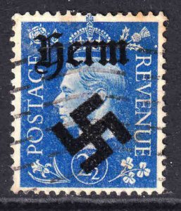 GREAT BRITAIN 2-1/2p HERM OVERPRINT USED VF SOUND