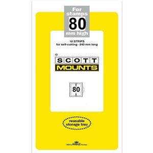 Scott Prinz 80 mm High 240mm Long Self Cutting Stamp Mounts  Clear 10 Strips