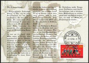 Liechtenstein 1998 150 Years of Revolution 1848 Maxi Card FDC