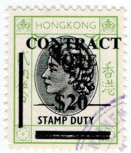 (I.B) Hong Kong Revenue : Contract Note $20 on 25c OP