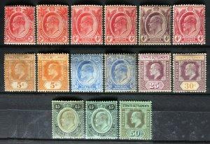 Malaya Straits Settlements 1906-12 KE VII 15V MH LH wmk MCCA M2382