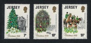 Jersey Horses Christmas 3v SG#286-288