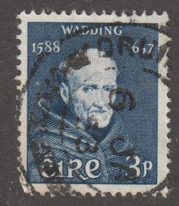 Ireland stamp, Scott#163, used, hinged, 3P, blue, #163