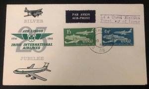1961 Dublin Ireland First Day Cover FDC Air Lingus Airlines Silver Jubilee