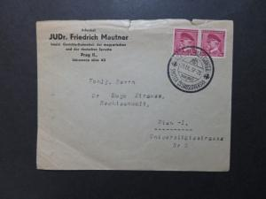 Czechoslovakia 1937 Cover to Austria w/ Event Cancel, see notes - Z8384