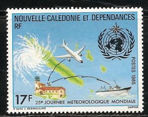 New Caledonia 523 1985 Meteorogical Day single MNH