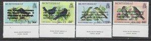 Montserrat 663a-66a MNH 1987 O/P Error (ap7272)