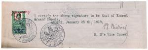 (I.B) Edward VII Revenue : Consular Service 2/- (Angers)