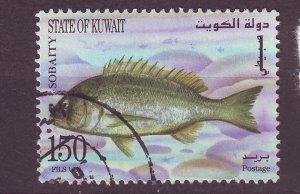 J25427 JLstamps 1997 kuwait part of set used #1365 fish