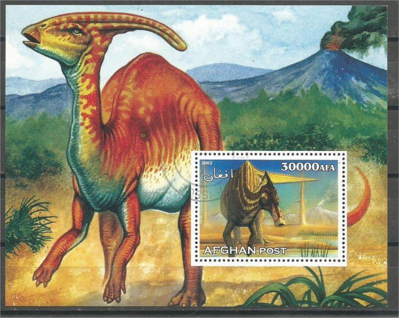 AFGHANISTAN, 2002 CTO miniature sheet 30000af, Dinosaurs Scott