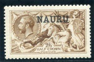 Nauru 1916 KGV 2s 6d yellow-brown (De La Rue) MLH. SG 20.