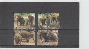 Sri Lanka  Scott#  1449-1452  MNH  (2003 Pinnawala Elephant Orphanage)