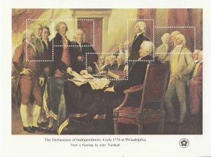 Stamp US Sc 1687 Sheet 1976 Declaration Independence John Trumbull Franklin MNH