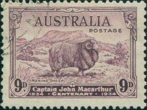 Australia 1934 SG152 9d Macarthur FU