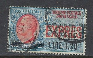 Italy E10 Used 1921 overprint issue (ap7262)