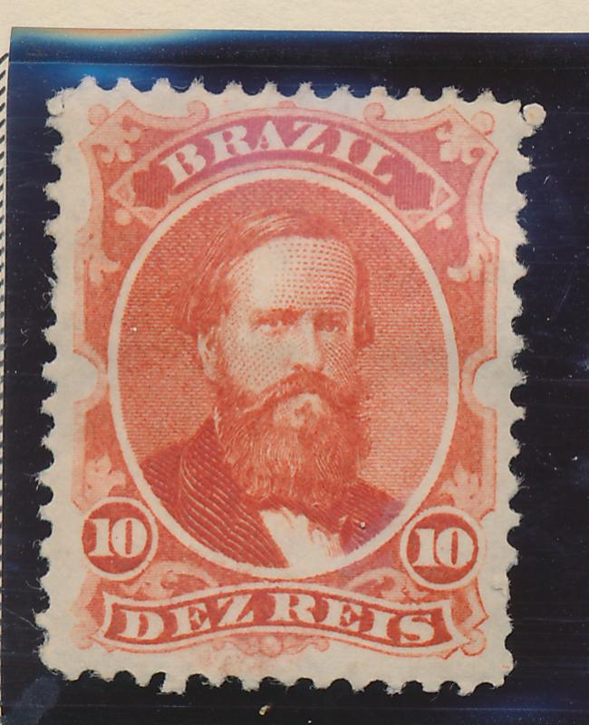 Brazil Stamp Scott #53, Mint Hinged, Original Gum, Good Centering - Free U.S....