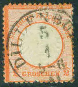 German Empire 1871-2 Scott 3 small shield CV$37