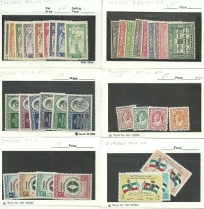 SHH 212  Jordan -  Collection 21 cards diff sets most MNH