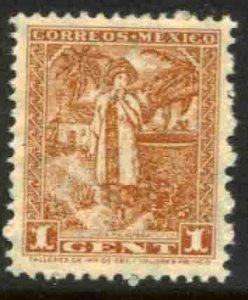 MEXICO 837 1¢ 1934 Definitive Wmk Gobierno... (279) MINT, NH. VF.