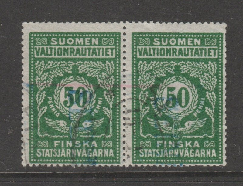 Finland Train Parcel Cinderella revenue fiscal stamp 3-11-