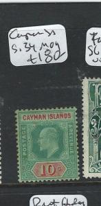 CAYMAN ISLANDS  (P2711B) KE 10/-  SG 34  MOG