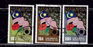 Malaysia 103-05 Used 1973 set