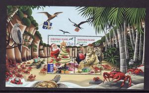 Christmas Is.-Sc#507a-Unused NH sheet-Christmas-Birds-2012-