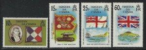 Tristan da Cunha 1985 Colonization set Sc# 377-80 NH