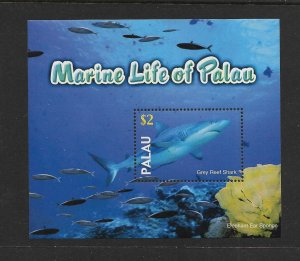 SHARKS - PALAU #758  GREY REEF SHARK   MNH
