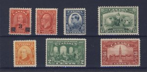 7x Canada MNH Stamps #141 to 143 191 to 194 MNH  Guide Value = $74.00
