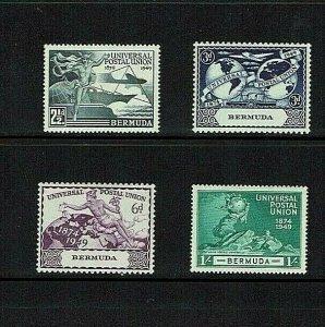 Bermuda:1949, 75th Anniversary of the UPU,  MNH set