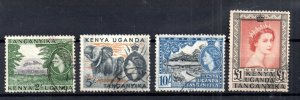 British KUT 1954 QEII good used high values SG177-180 WS15928