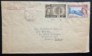 1959 Montserrat Airmail Cover To Roxbury Ma USA