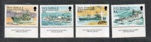 South Georgia Sc#266-269 M/NH/VF, Royal Fleet, Cv. $20