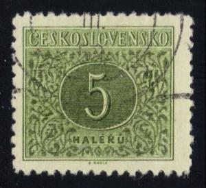 Czechoslovakia #J82 Postage Due, CTO (0.20)
