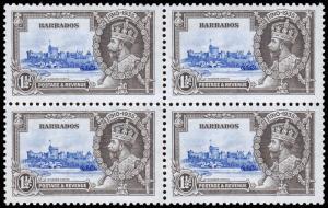 Barbados Scott 187 Block of 4 (1935) Mint LH F-VF C